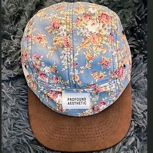 Profound Aesthetic Floral 5 Panel Blue Floral Hat